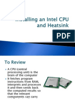 Installing an Intel CPU and Heatsink