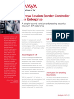 Avaya SBCE Overview Brochure