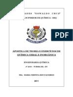 APOSTILA DE TEORIA E EXERCÍCIOS DE QUÍMICA GERAL E INORGÂNICA