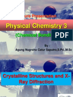 Physical Chemistry 3_Lesson 9 (Crystalline Stucture & X-Ray Diffraction)