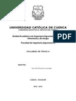 Silabo Fisica 2012-2013