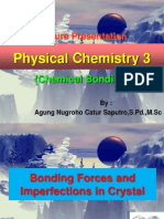 Physical Chemistry 3_Lesson 10 (Bonding Force & Imperfection on Crystal)