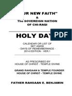 our new faith holydayz