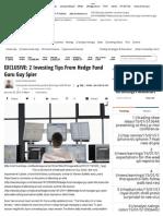 EXCLUSIVE_ 2 Investing Tips From Hedge Fund Guru Guy Spier _ Benzinga