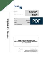 Norma Para Intervenir en Las Instalaciones en Explotación de Endesa y Filiales en Chile