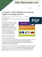 Eliminar Un Virus Que Impide El Arranque Del PC_ _ Hiper Simple