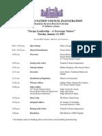 Updated Inauguration Schedule