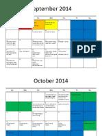 teachers calendar 2014 - 2015
