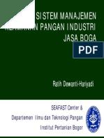 Sistem Manajemen Keamanan Pangan Industri Jasa Boga