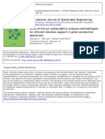 State-Of-The-Art Sustainability Analysis Methodologies for Efficient Decision Support in Green Production Operations