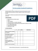 Cuestionario Del Intercambio Estudiantil Académico - Estudiantes Extranjeros
