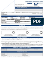 PEMI - Investment Application Form (IAF)