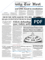 The Daily Tar Heel for Jan. 13, 2015