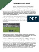 Voetbal   is (Voetbal Nieuws) International History