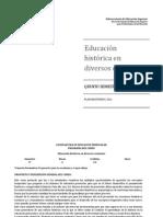 Educacion Historica en Diversos Contextos Lepree