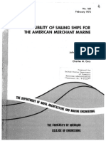 Feasability of Saling Ships for American Merhant Marine