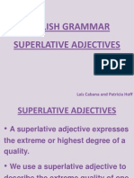 English Grammar - Superlatives - Rules and 2 Activities