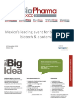 Biopharma Mexico 2014 Partnership Prospectus