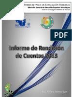 Informe de Rendicion 2013 ITNN