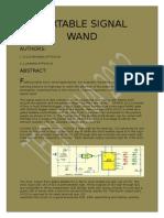 Portable Signal Wand