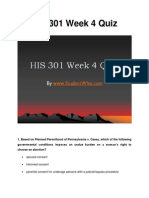 HIS 301 Week 4 Quiz