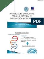 Habilidades directiva enfermeria