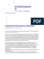 Mplementation of Infra Projects by Administration