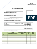 PLDDB Application for Employment