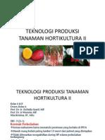 Bahan Ajar Teknologi Produksi Tanaman Hortikultura II
