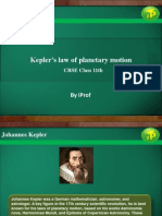Kepler's law of planetary motion for CBSE Class 11th