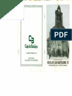 Programa Fiestas San Bartolomé 1992