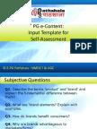 BSE P M Self Assessment Branding Ch1