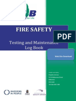 Fire Safety Testing and Maintenance Log Book