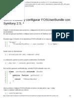 Cómo Instalar y Configurar FOSUserBundle Con Symfony 2.5 _
