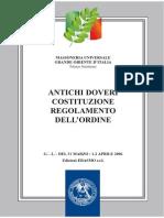 Costituzione Grande Oriente D'ITALIA.