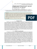 A Study on Partial Replacement of Natural Granite Aggregate with Pelletized Fly Ash Aggregate