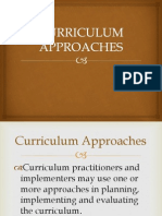 Curriculum Approaches