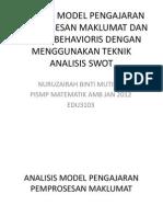 Analisis Model Pengajaran Pemprosesan Maklumat Dan Model Behavioris