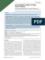 Sleep Disturbance Parkinson