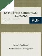 La Politica Ambientale Europea (B.Cotta) Pt.1