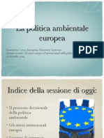 La Politica Ambientale Europea (B.Cotta) Pt. 2