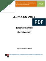 Autocad - Yüzüncü Yıl Üniversitesi Sadeleştirilmiş Ders Notları