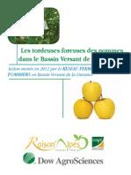 Les tordeuses foreuses des pommes dans le Bassin Versant de la Durance Action menée en 2012 par le RESEAU FERME DEPHY POMMIERS e