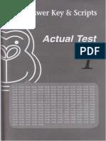 Key, Scripts Gorilla Toeic Vol 1 - Actual Test 1