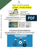 Agenda de Actividades en San Fernando de Henares Enero 2015