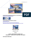 The Last Call Letter January 22 2014 -New