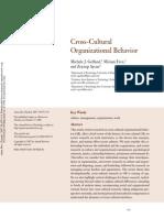Gelfandetal 2007 Cross-Cultural Organizational Behavior