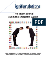 International Business Etiquette Guide