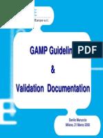 GDL GIQAR GCP Gamp Guideline Milano