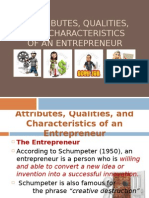 Qualities, And Characteristics of an Entrepreneur 2